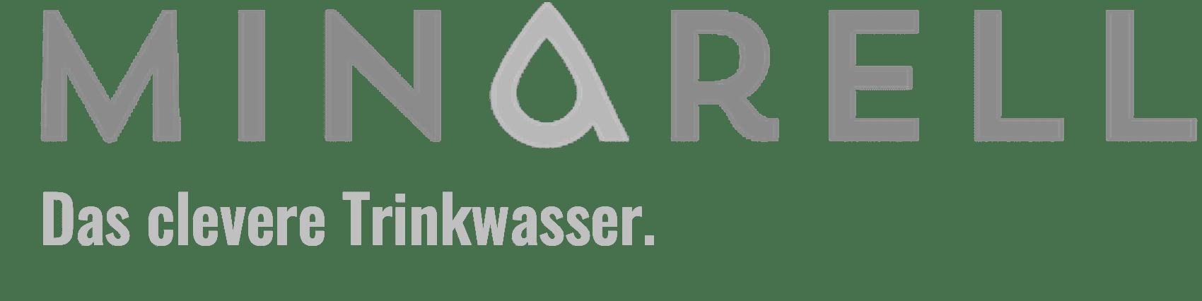 MINARELL Premium Wasser Logo Claim Grau